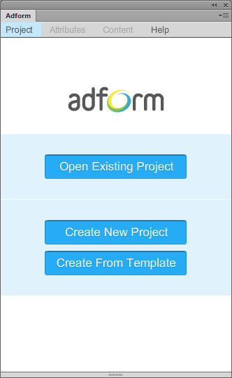 Adform Toolkit Startwindow