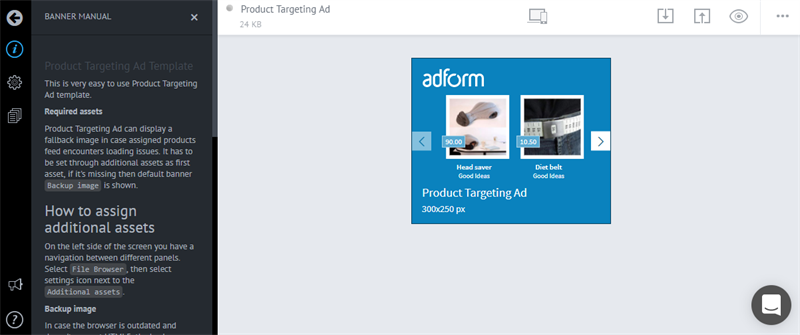 Adform Build Product Targeting Ads With Studio Builder - Product ad template
